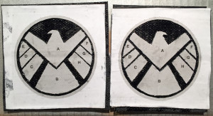 These were the last two I made. The logo pieces are correctly positioned & glued down with just enough glue.