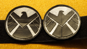 Home-made shoulder patches completed