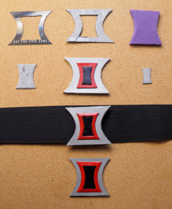 Everything from early draft versions to the hand-crafted belt to the 3D-modeled and printed version.