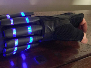Sneak closeup preview of the assembled widow's bite bracer & glove.